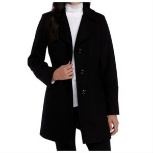 Anne Klein black trench coat